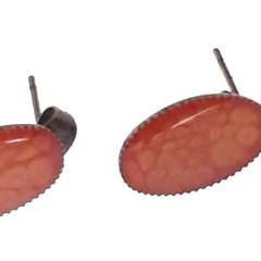 Handpainted Red Stud Earrings