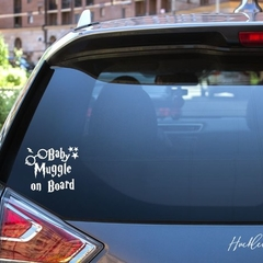 Baby Muggle on Board Car Decal, Harry Potter