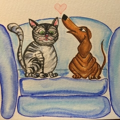 """""""Best friends"""" card Limited Edition Prints"""