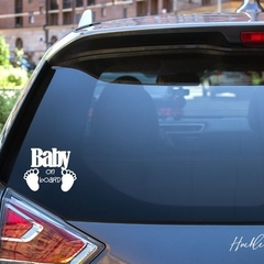 Baby on Board Car Decal, Baby Feet