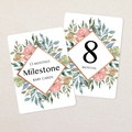 Girls Baby Milestone Cards. Vintage Floral. Monthly Pack of 13 Cards