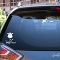 Baby on Board Car Decal, Baby Giraffe