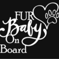Fur Baby on Board Car Decal, Dog Cat