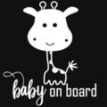 Baby on Board Car Decal, Baby Giraffe