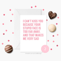 Funny Valentines Card   Long Distance Card