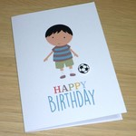 Boys Happy Birthday card - soccer