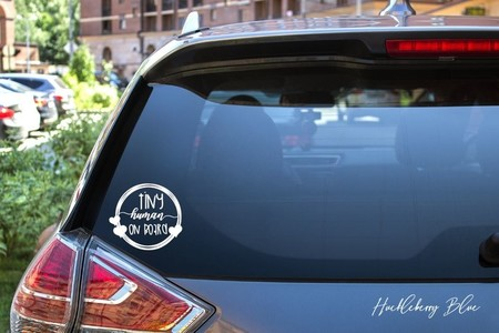 Tiny Human on Board Car Decal, Baby