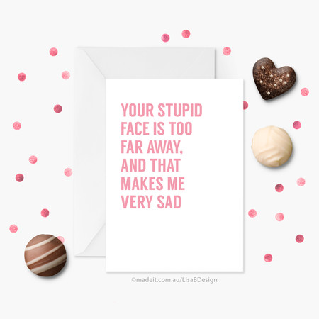 Funny Valentines Card | Long Distance Card