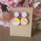 Polymer Clay Earrings - white sunshine swirl drops