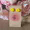 Lemon yellow polymer clay stud earrings