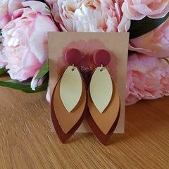 Earth faux leather polymer clay earrings