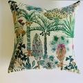 Boho coastal beach house style palm tree cushion cover