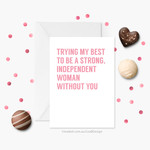 Long Distance Card | Valentines Card | Long Distance Friend / Family