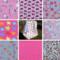 Girls daycare cuddle blanket, flannel/fleece, 1 m x 1 m, 8 fabrics