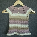 Girls cable knit dress 18mths plus
