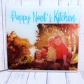 Personalised Name Photo Glass Cutting Chopping Board great for family mum nana