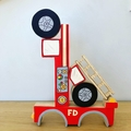 Hand painted wooden FIRE TRUCK Stacker
