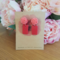 Pink & red roses polymer clay earrings