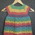 Girls Lace Style knit dress