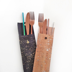 Travel cutlery/straw sets