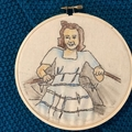 Custom family portraits, 15 cm,  embroidery watercolour hoop art,