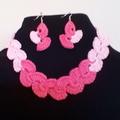 Handmade Crochet Necklace and Earrings