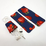 Cable Wrap Set- 1 each of small, medium and large - Strawberries design