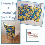 Library Bag and matching Chair Pouch - Bear design
