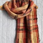 Autumn Shawl / Wrap, Hand Dyed, Spun & Woven