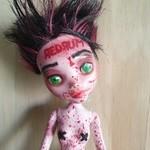 RED - OOAK Monster High Doll Repaint