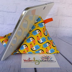 Technology Pillow: Youcan Toucan. Bright colours.