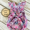 """Astoria Romper """"Floral Horses"""" Made to Order in Sizes Newborn-3"""