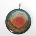 Abstract Sunrise Pendant