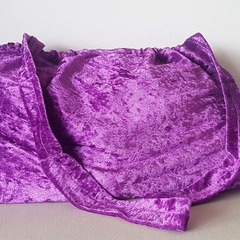 Purple Velvet Elastic Top Bag - large