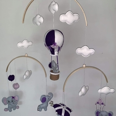 Hot Air Balloon and Elephant ~  baby mobile