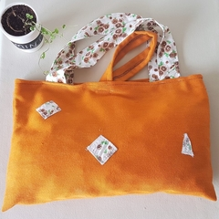 Orange patch Tote/hand/laptop bag