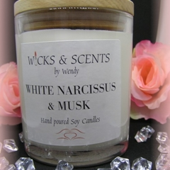 Soy wax Candle White Narcissus & Musk