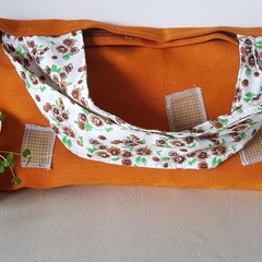 Orange Patch Bag
