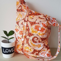 Orange paisley Tote/hand Bag - large
