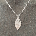 Textured Silver necklace