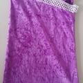 Purple velvet bag with trim