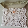 Crochet Vintage Bag - medium