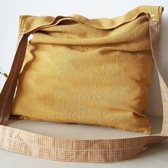 1 x Tote/shopping handbags Gold mustard
