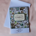 Friendship, Inspirational, Hand stamped, Handmade Stampin Up Frosted Florals DSP