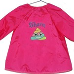 Art Smock - Personalised Girls - Rainbow Poop