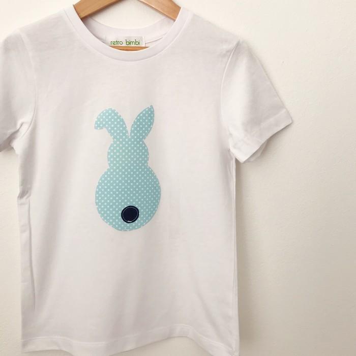 fce903fde1 Size 4 - Tshirt - Bunny - Blue Spot - | retro bimbi on Madeit
