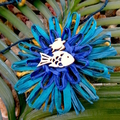 Flower Garland Hanging Decoration Jute Raffia Paper Beach Coastal Ocean