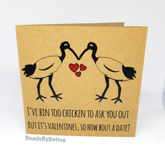 Bin Chicken (Ibis) Valentine's Card / Quirky / Funny / Pun / Free Aus Shipping