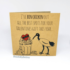 Bin Chicken (Ibis) Valentine's Day Cards / Quirky / Funny / Pun / Free Aus Ship