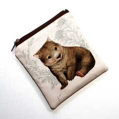 Square Pouch in Gorgeous Wombat Fabric